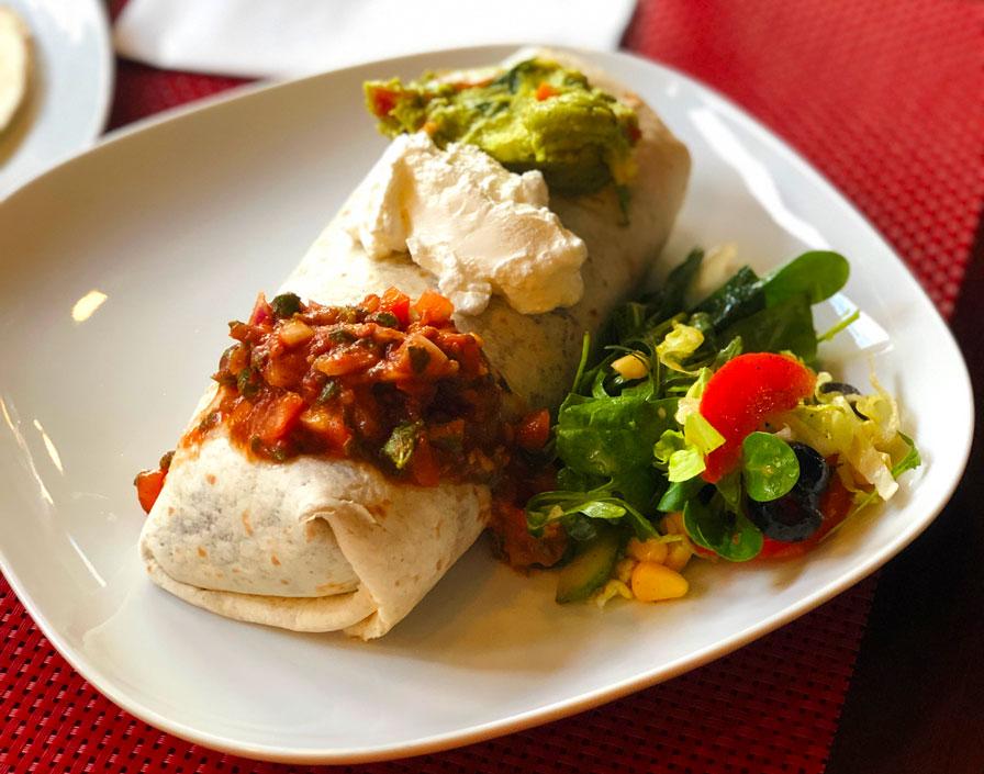 burrito veggie Mexican