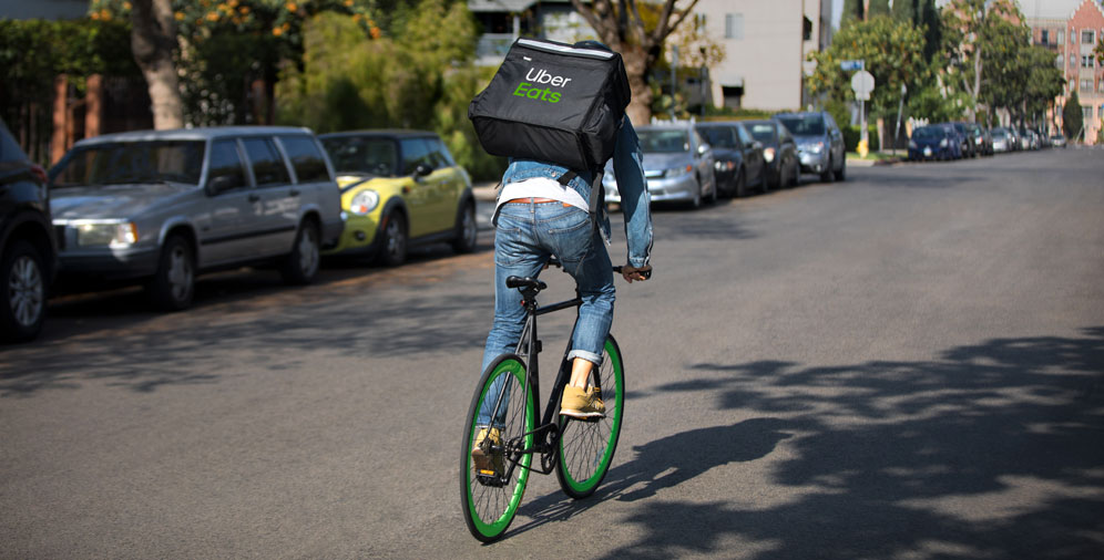Uber eats bicicleta