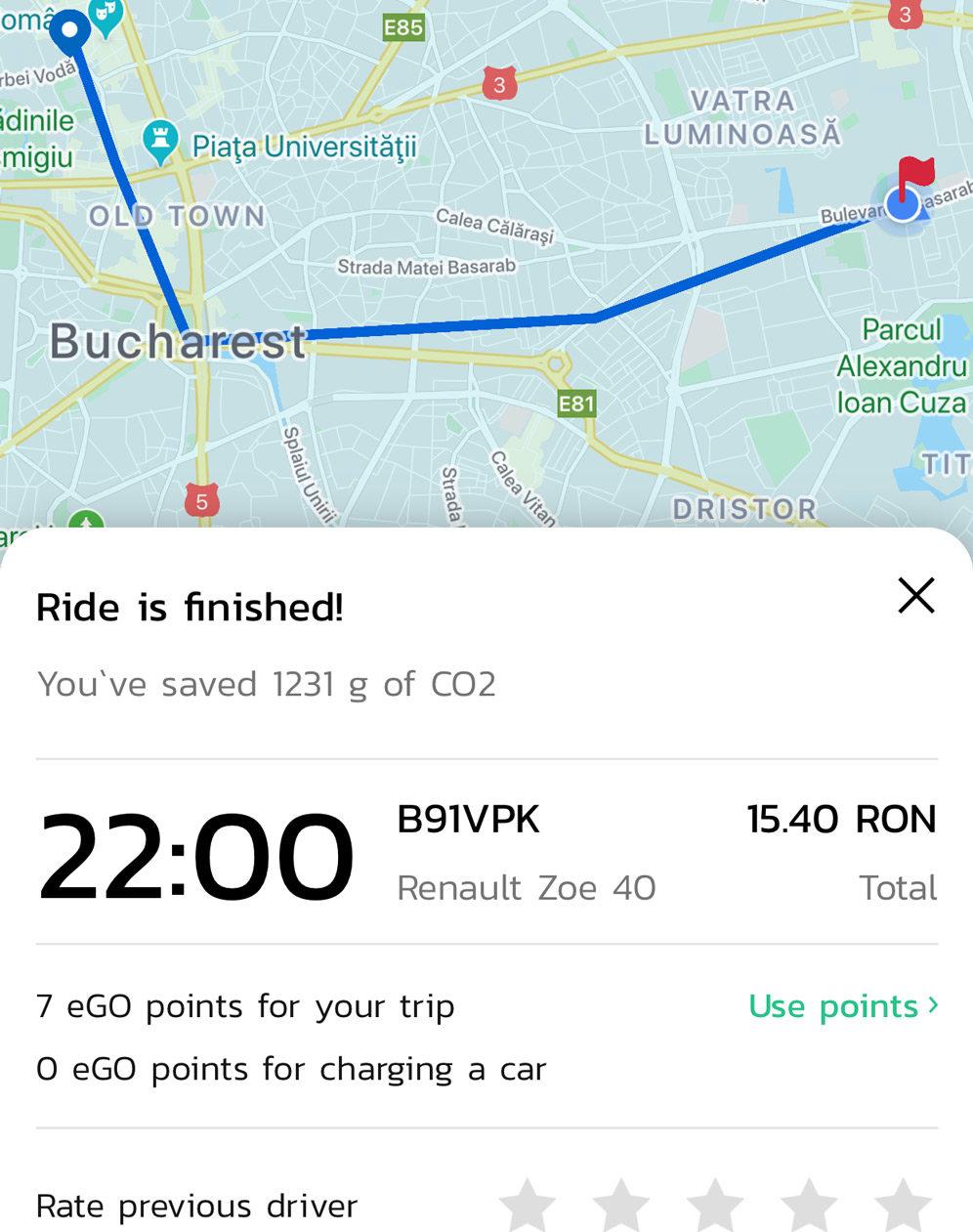 car sharing application