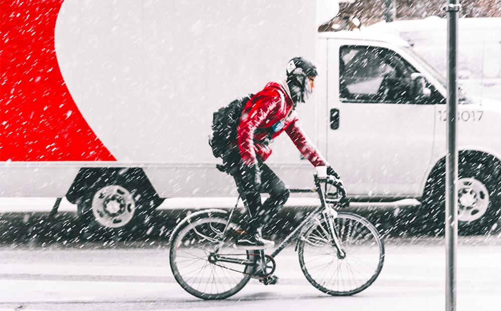 bicicleta iarna